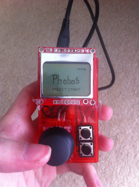 Phobos gameboy style hand held game